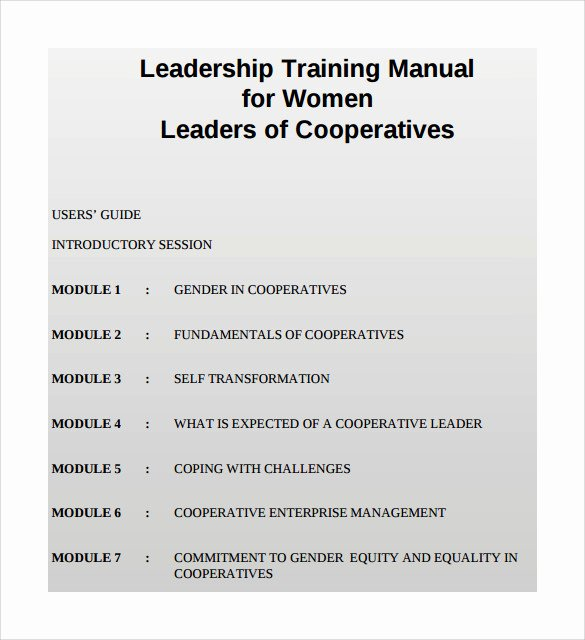 Template for Training Manual Fresh 8 Training Manual Templates Free Sample Example format