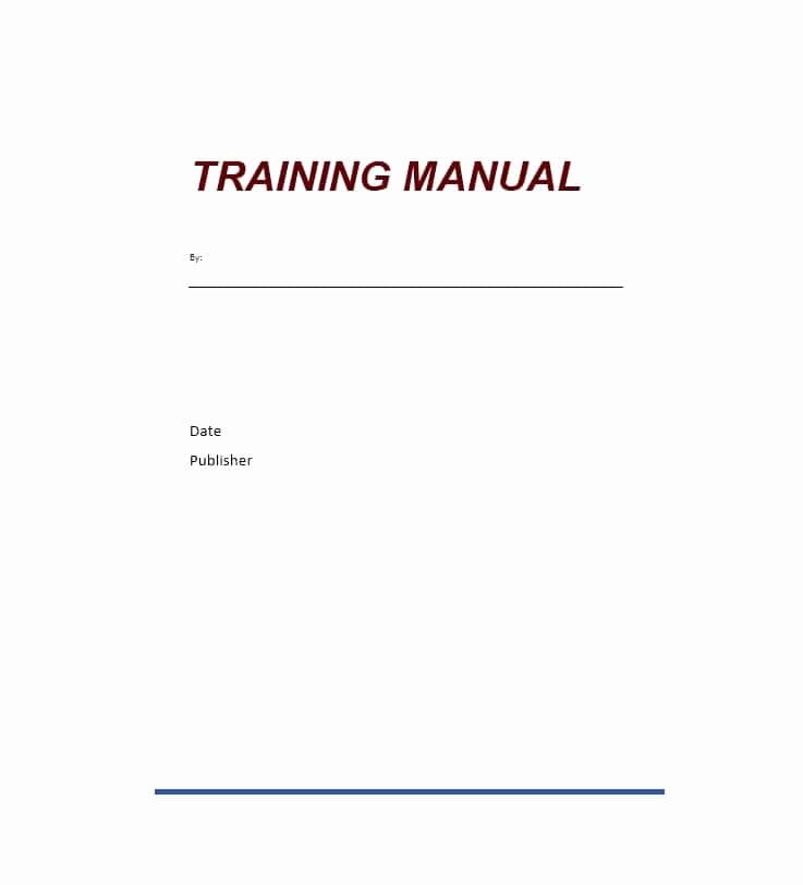 Template for Training Manual Lovely Training Manual 40 Free Templates & Examples In Ms Word