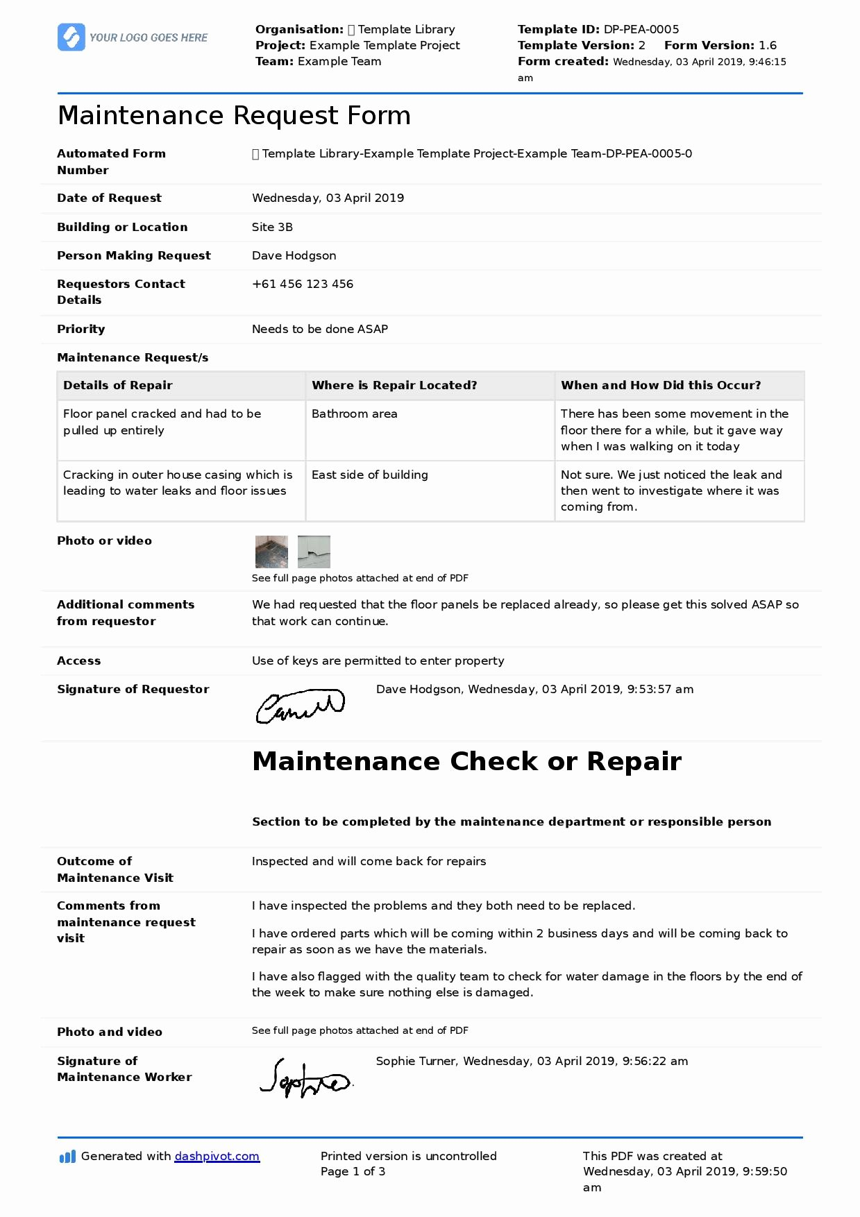 Tenant Maintenance Request form Template Awesome Maintenance Request form Template Better Than Pdf and Excel