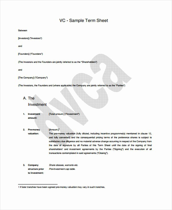 Term Sheet Template Word Inspirational 44 Sheet Examples Psd Ai Word Pdf