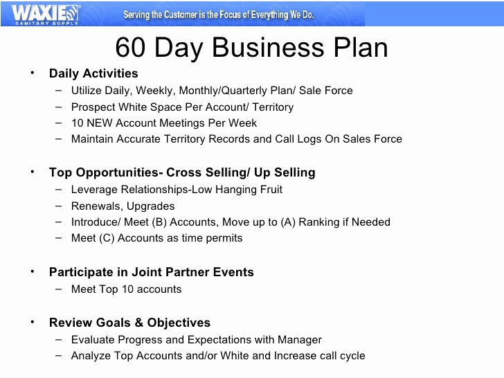 Territory Sales Plan Template Beautiful 30 60 90 Business Plan