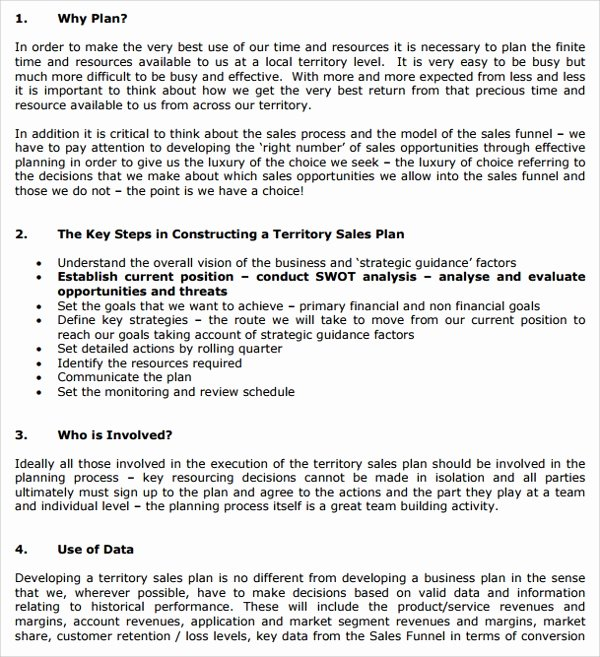 Territory Sales Plan Template Beautiful Sample Territory Plan Template 8 Free Documents In Pdf