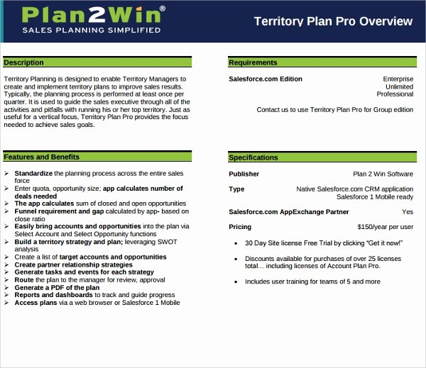 Territory Sales Plan Template Elegant Sample Territory Plan Template 8 Free Documents In Pdf