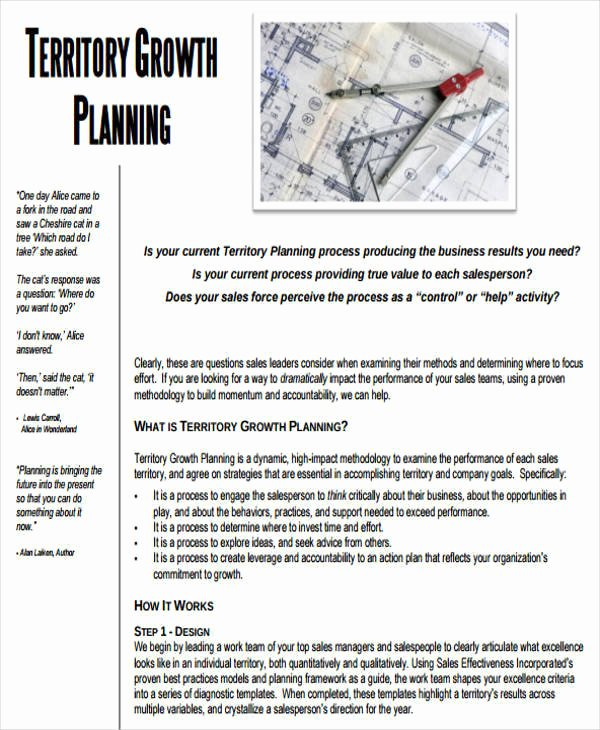 Territory Sales Plan Template Lovely 43 Sample Sales Plans Word Pdf Docs