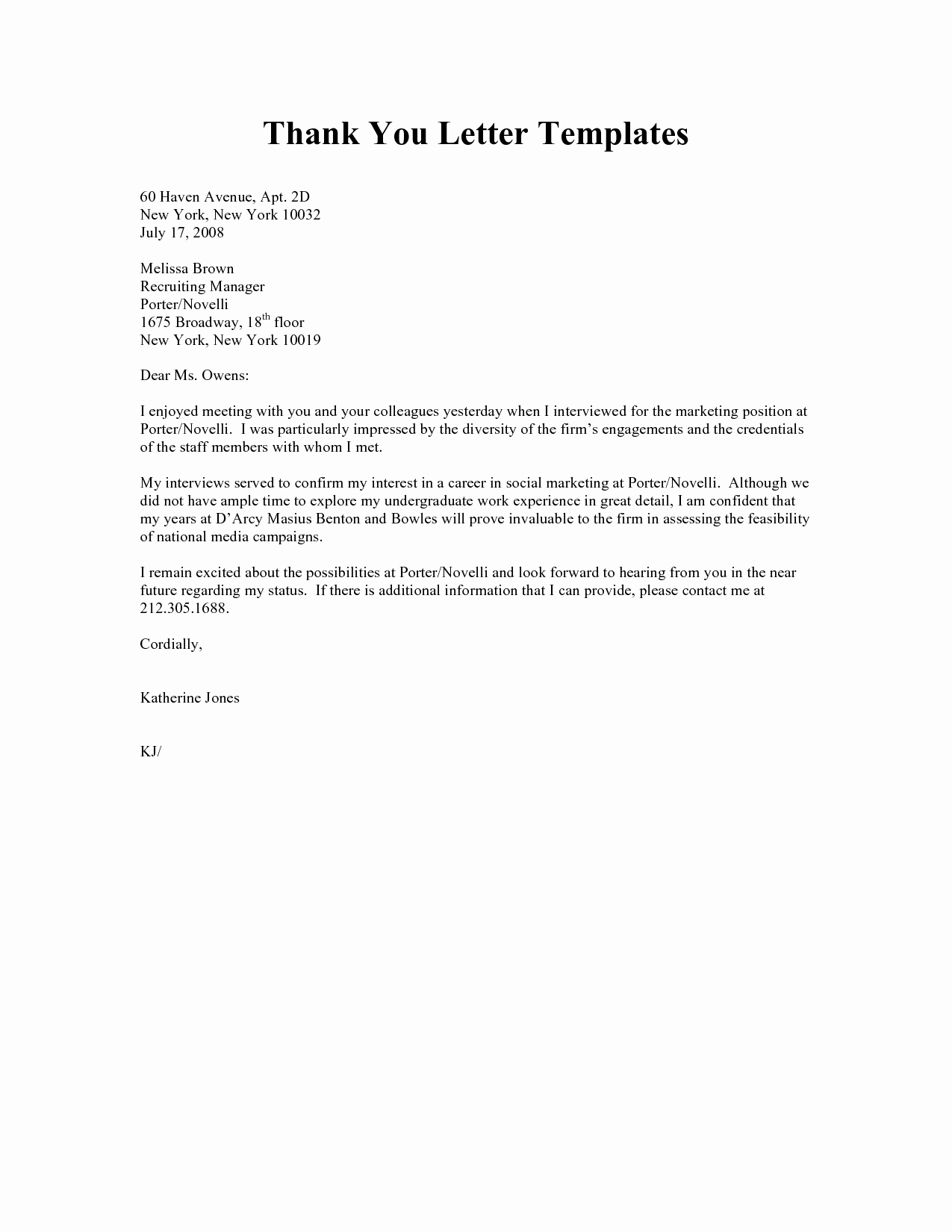 Thank You Letter Business Template Best Of Best S Of Personal Thank You Letter Templates
