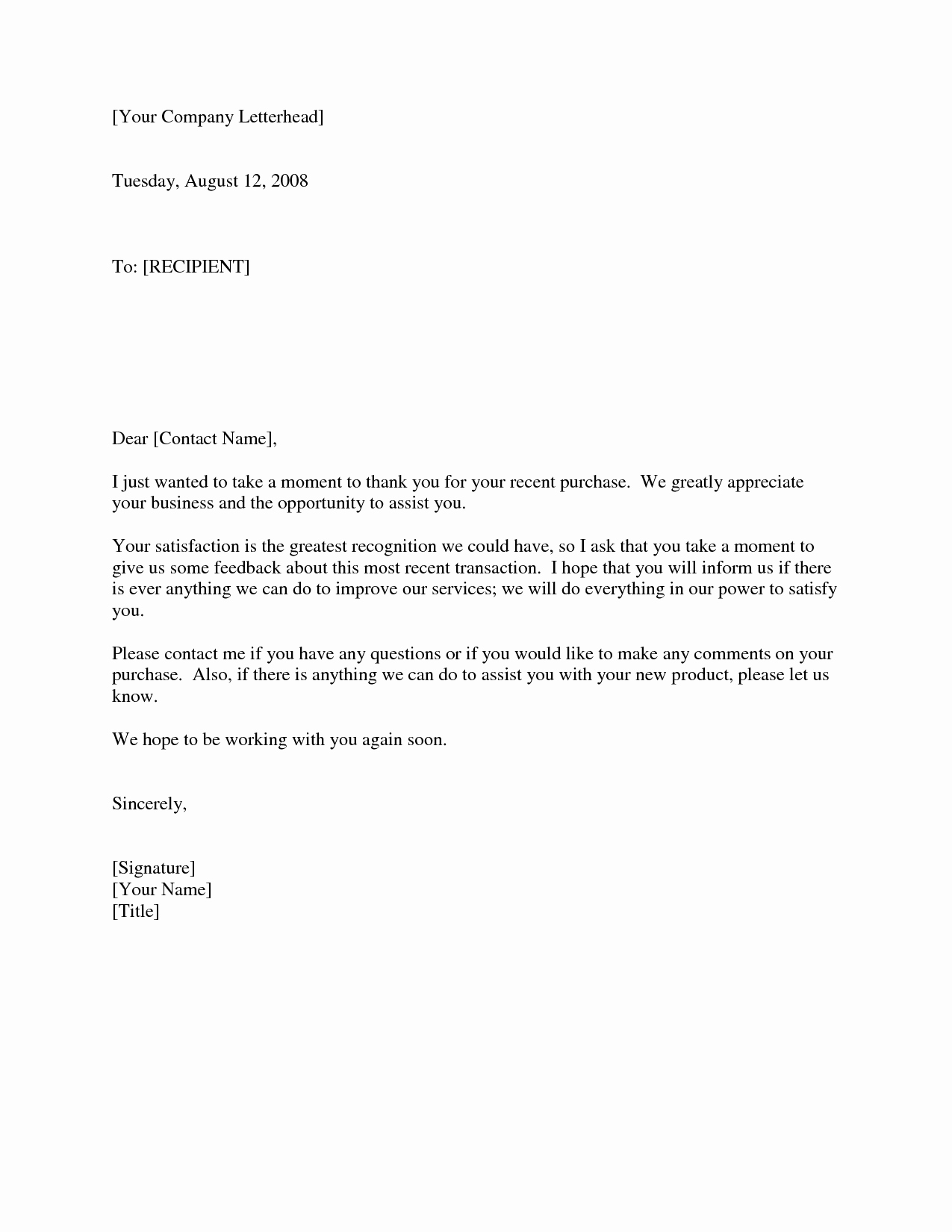 Thank You Letter Business Template Elegant Business Thank You Letter to Client