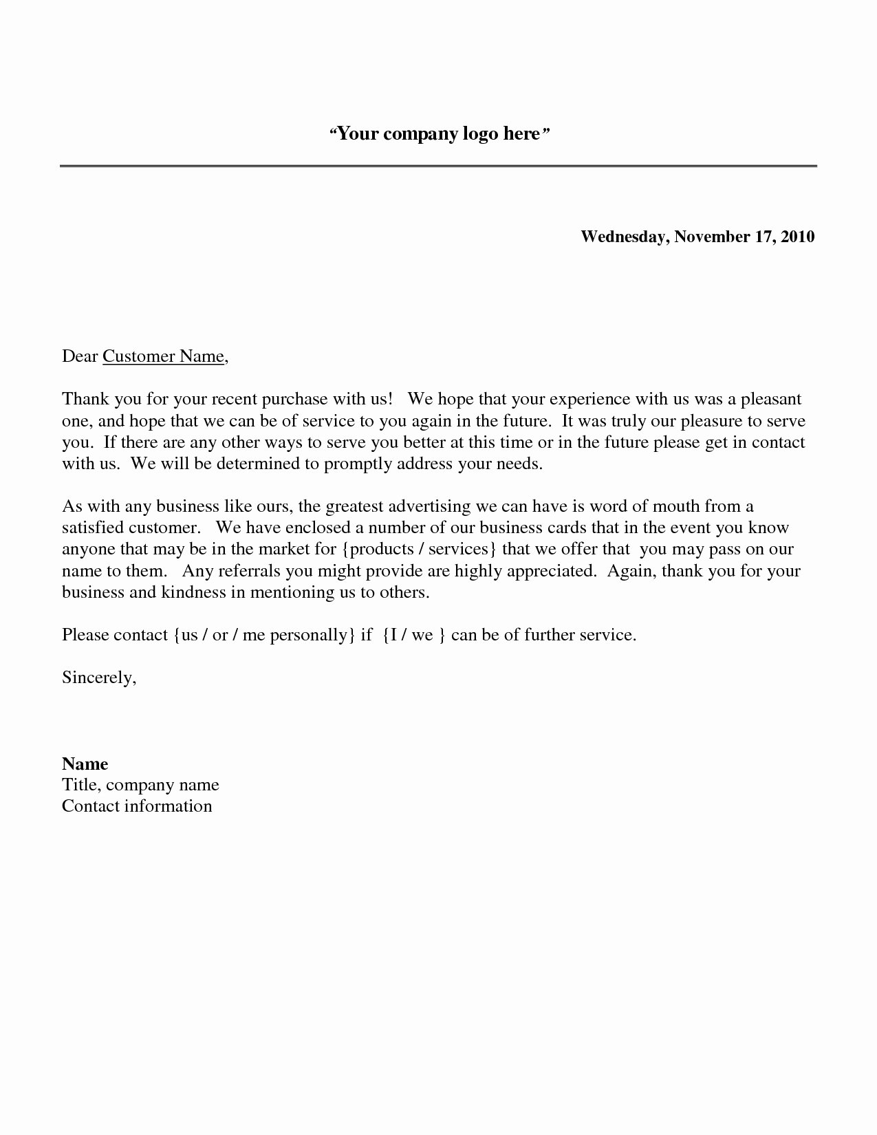 Thank You Letter Business Template Inspirational Business Thank You Letter to Client