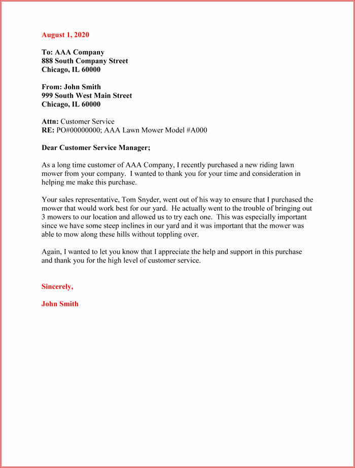 Thank You Letter Business Template Luxury Customer Thank You Letter 5 Sample Letter Templates