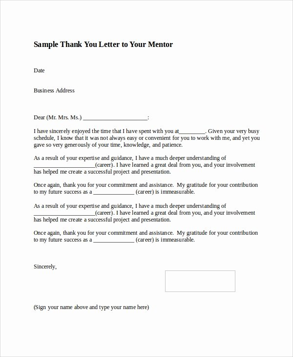 Thank You Letter Business Template New Sample Thank You Letter format 8 Examples In Word Pdf