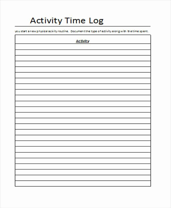 Time Log Template Excel Beautiful 28 Log Templates In Excel