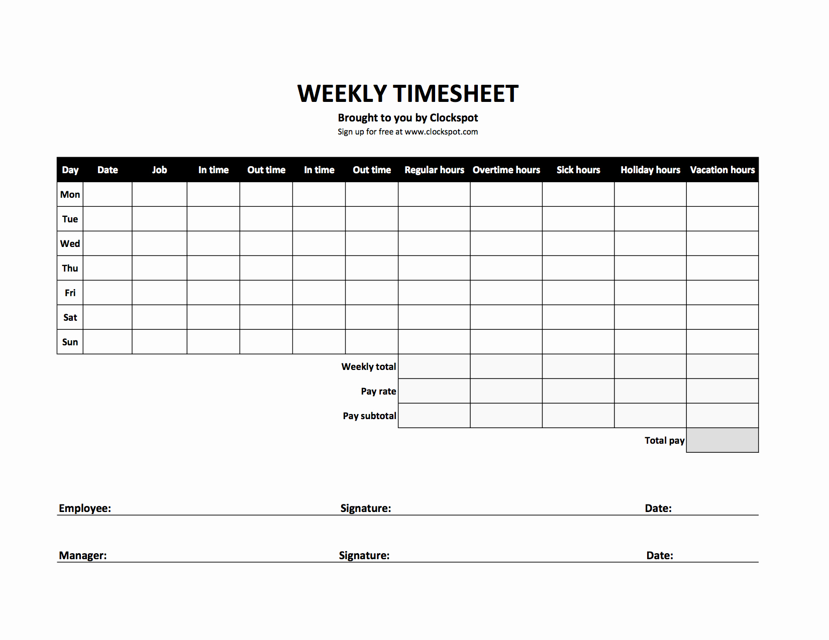 Time Log Template Excel Luxury Free Time Tracking Spreadsheets