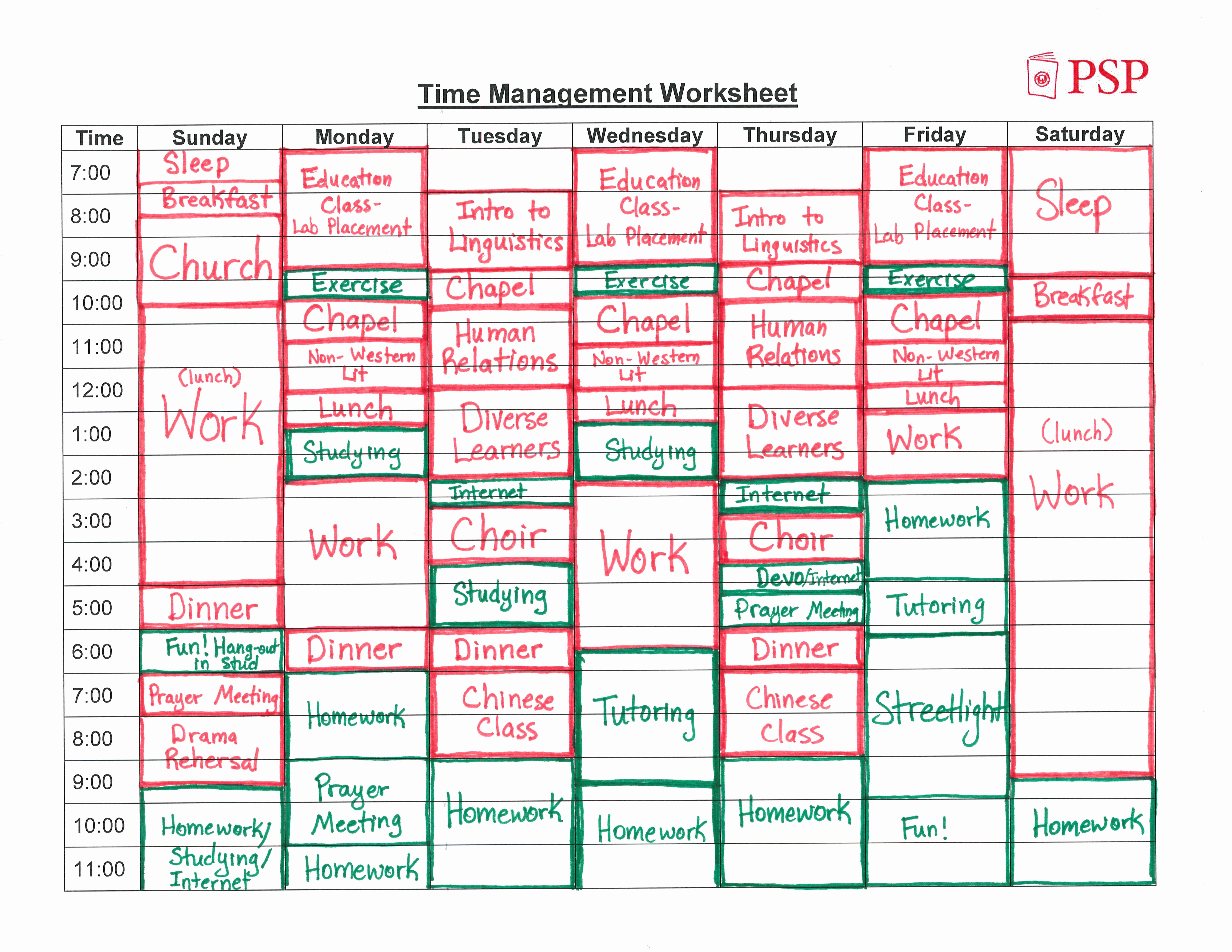 Time Management Schedule Template Awesome Time Management – atlas