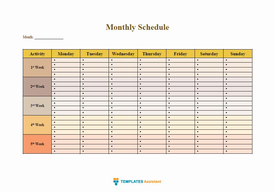 time management templates