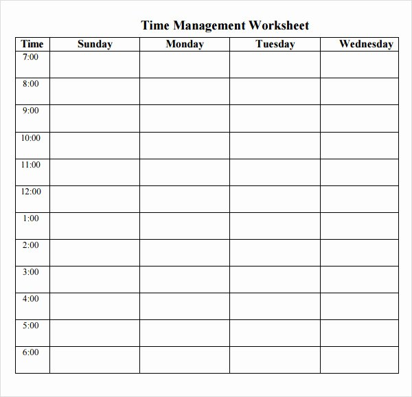 Time Management Schedule Template Beautiful Printable Time Management Schedule Calendar Template