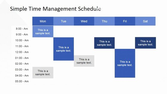 Time Management Schedule Template Fresh Timetable Powerpoint Templates