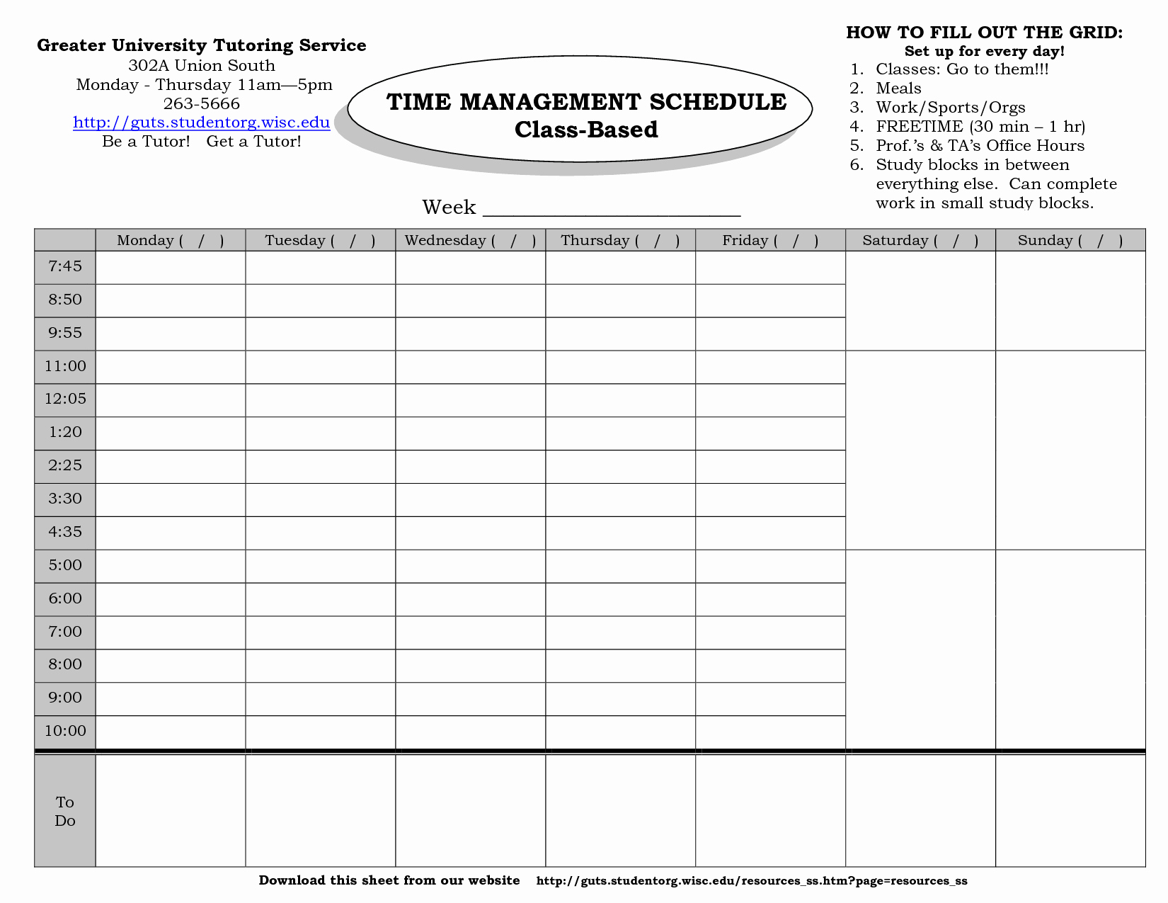 Time Management Schedule Template Inspirational 24 Of Monthly Time Management Template