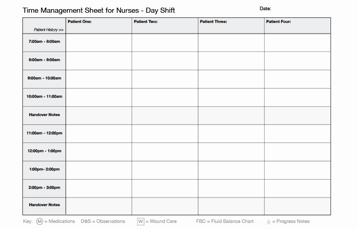 Time Management Schedule Template New Time Management for Nurses Download A Day Planner Ausmed
