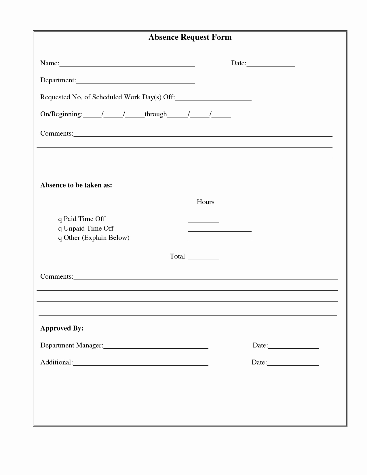 Time Off Request form Template Awesome Best S Of Time F Work Letter Example Time F