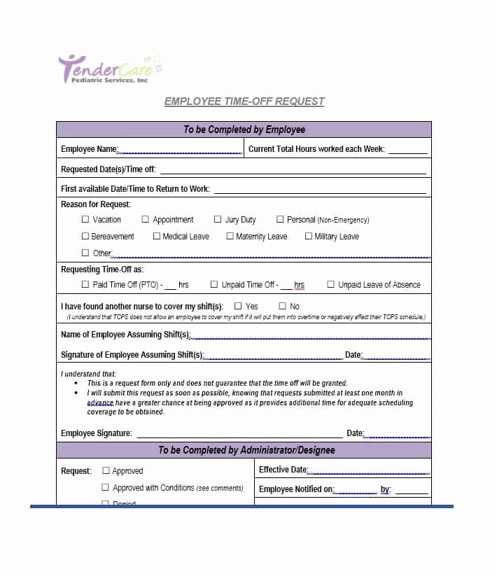 Time Off Request form Template Elegant 40 Effective Time F Request forms & Templates