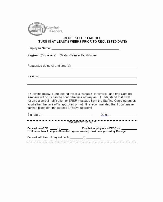 Time Off Request form Template New 40 Effective Time F Request forms & Templates