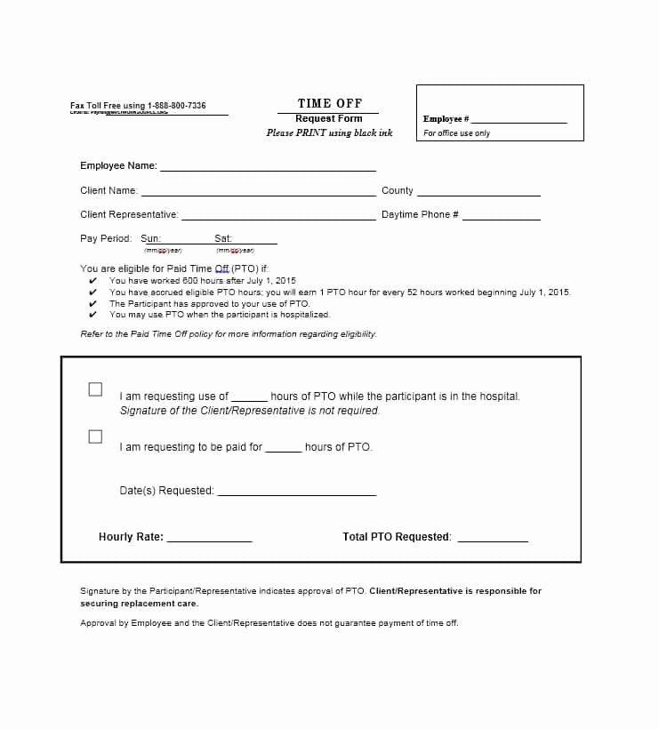 Time Off Request form Template Unique 40 Effective Time F Request forms & Templates