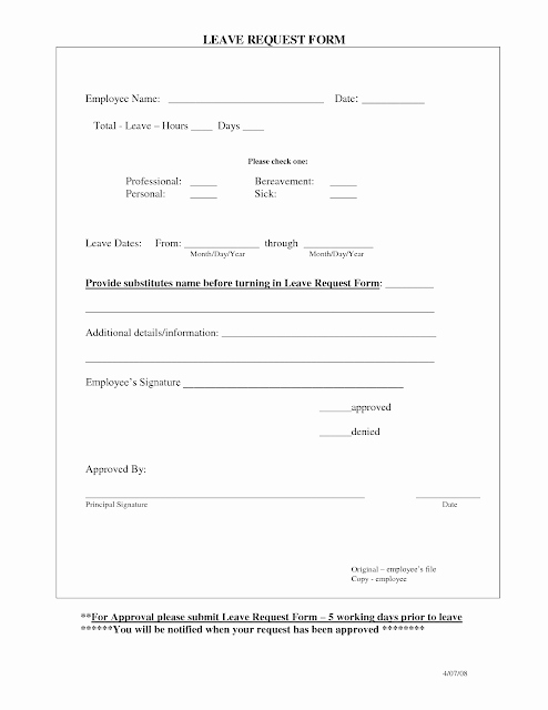 Time Off Request form Templates Beautiful Employee Time Off Request From Template Excel Template