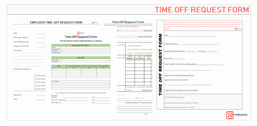 Time Off Request form Templates Lovely Employee Time Off Request form Word Excel & Pdf Templates