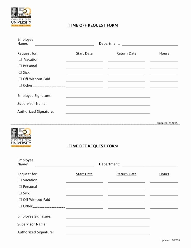 Time Off Request form Templates New 9 Pto Request form Templates Pdf