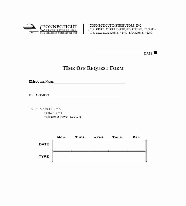 Time Off Request Template Beautiful 40 Effective Time F Request forms & Templates