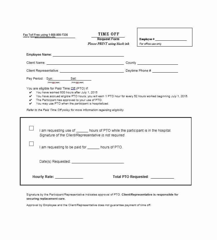 Time Off Request Template Fresh 40 Effective Time F Request forms & Templates