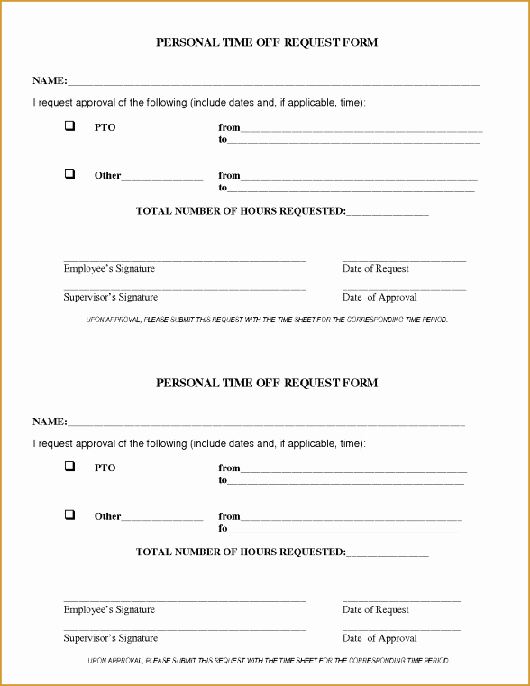 Time Off Request Template Lovely Time F Request forms Word Excel Samples