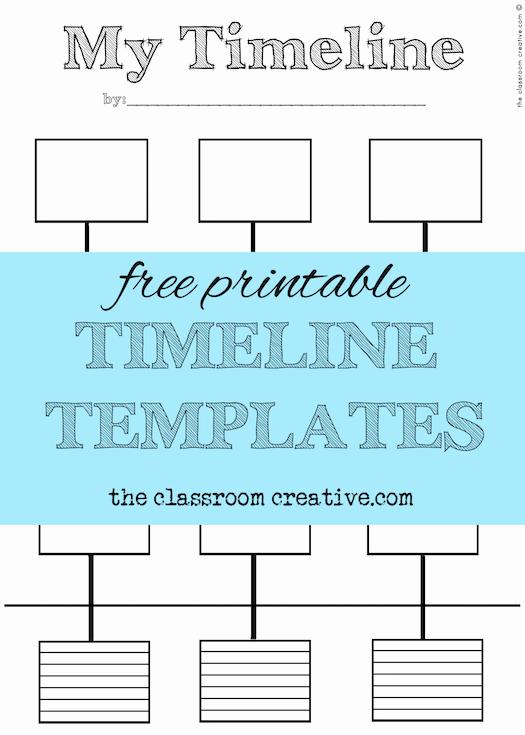 Timeline Templates for Kids Elegant Free Printable Timeline Templates theclassroomcreative