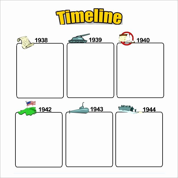 Timeline Templates for Kids Unique Sample Blank Timeline Template 4 Free Documents