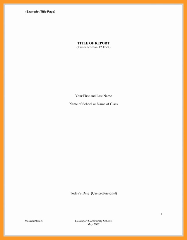 Title Page Mla Template Best Of 12 13 Mla format Essay Heading
