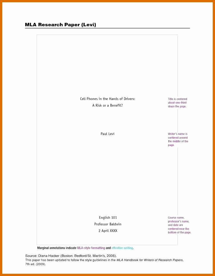 Title Page Mla Template Best Of 8 9 Mla Title Page Template