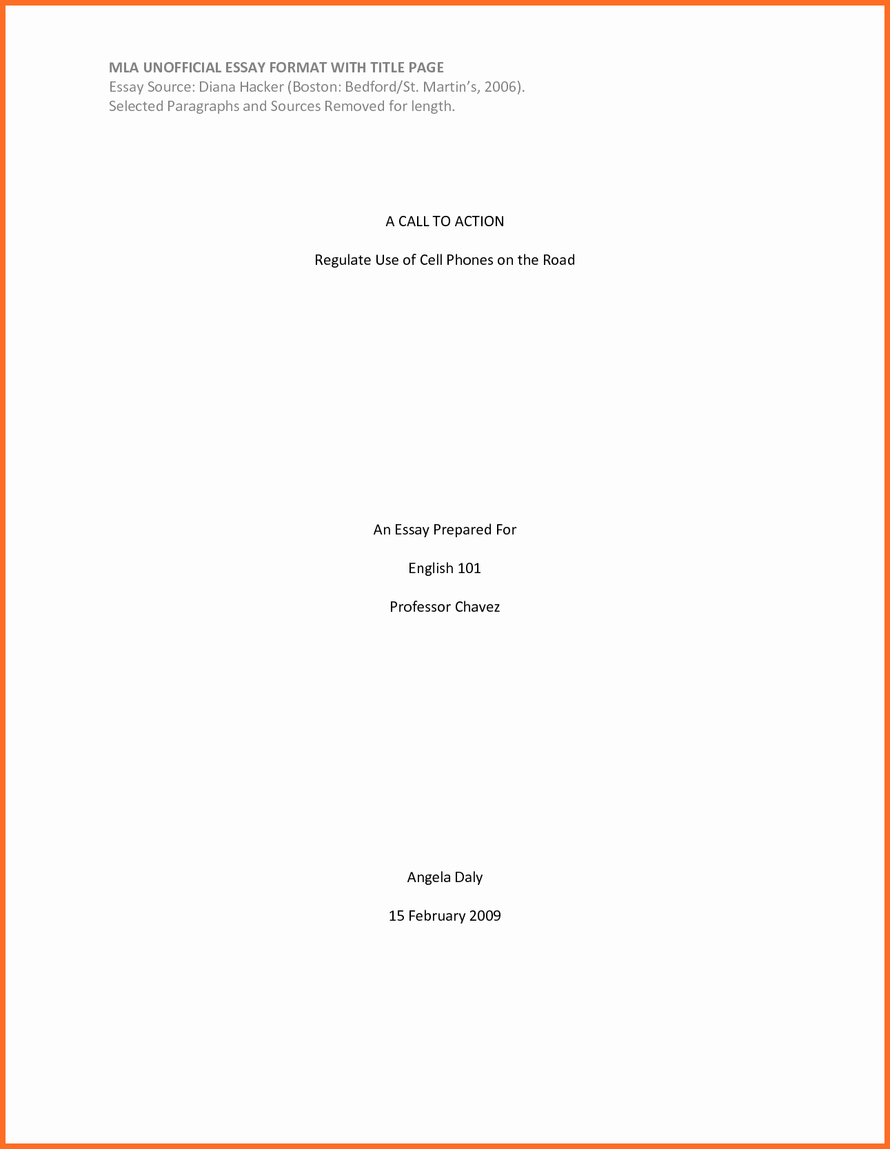 Title Page Mla Template Best Of Cover Page format