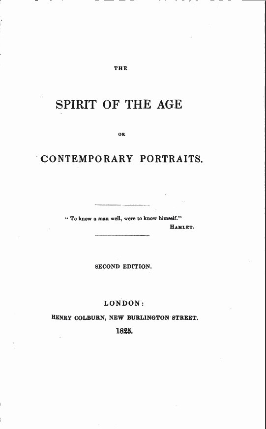 Title Page Mla Template Elegant the Spirit Of the Age