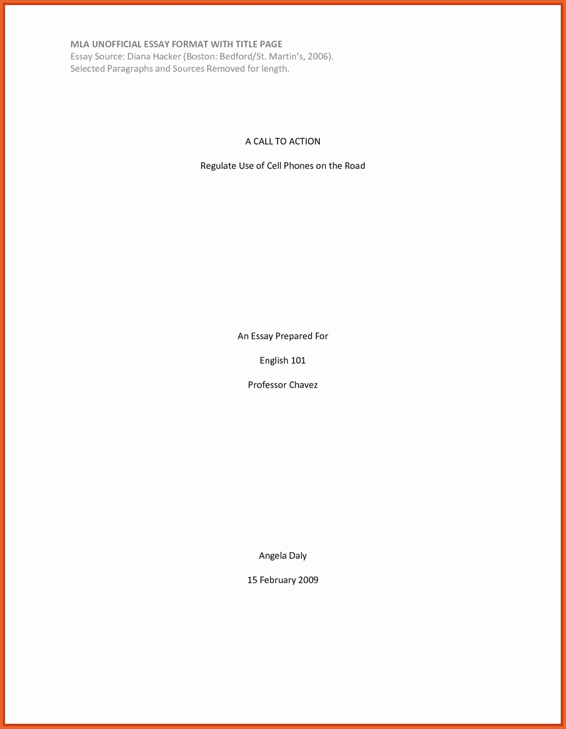Title Page Mla Template Fresh Cover Page format