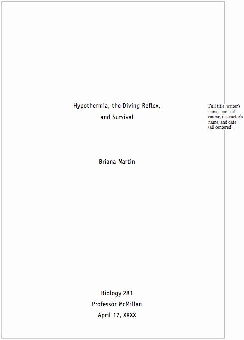 Title Page Mla Template Fresh Sample Cse Paper