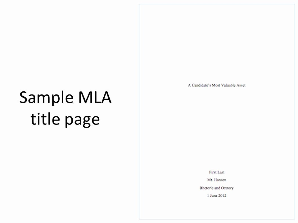 Title Page Mla Template New Mla Title Page