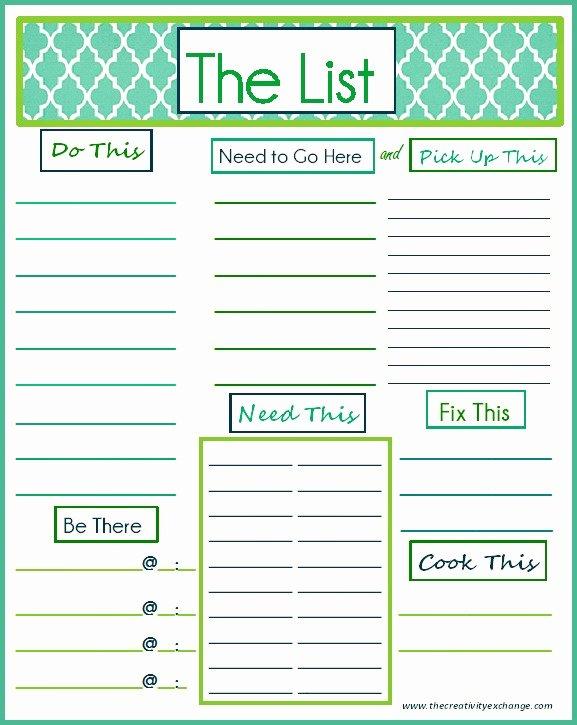 "To Do List Template Pdf Beautiful Free Printable ""to Do"" List"