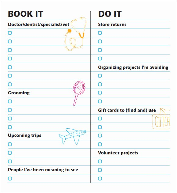 To Do List Template Pdf Best Of Free 8 to Do List Samples In Example format