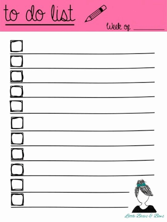 To Do List Template Pdf New 5 Printable to Do List Templates Excel Xlts