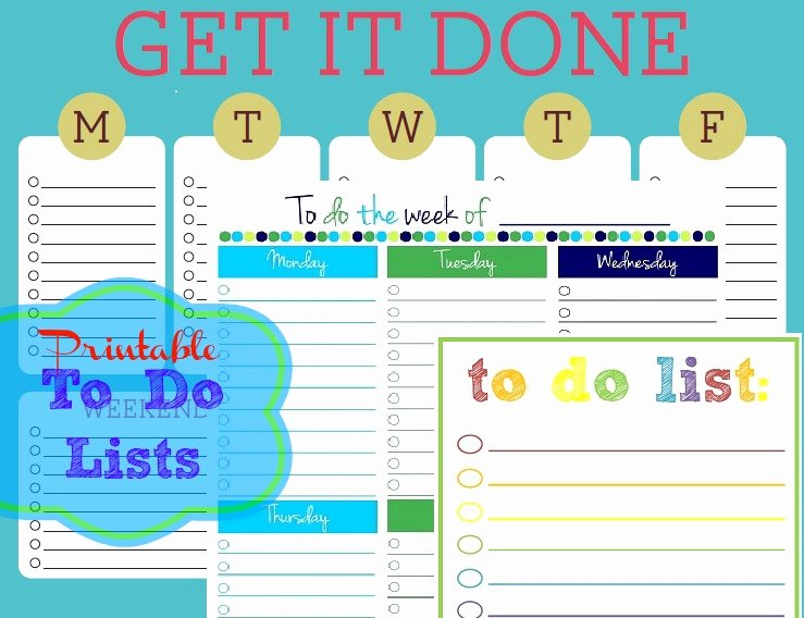 To Do List Template Word New Free Printable to Do Lists – Cute & Colorful Templates