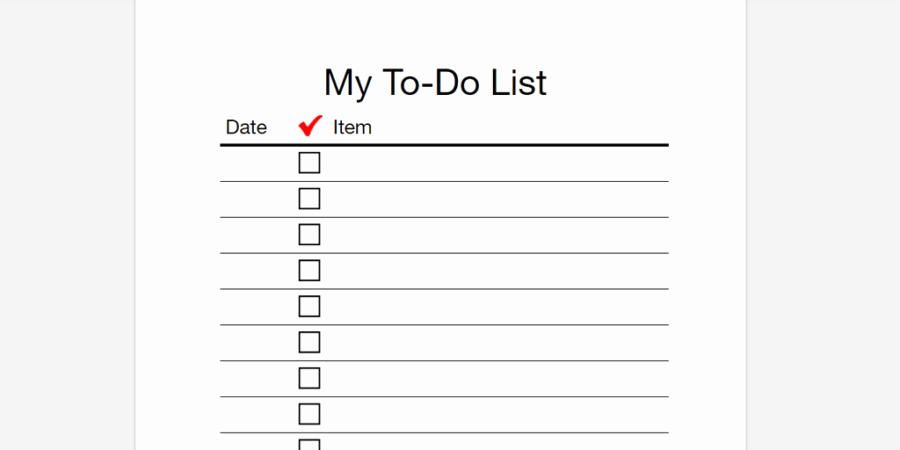 To Do List Template Word Unique Every to Do List Template You'll Ever Need Business 2