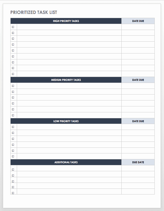 To Do List Templates Word Luxury 30 Free Task and Checklist Templates