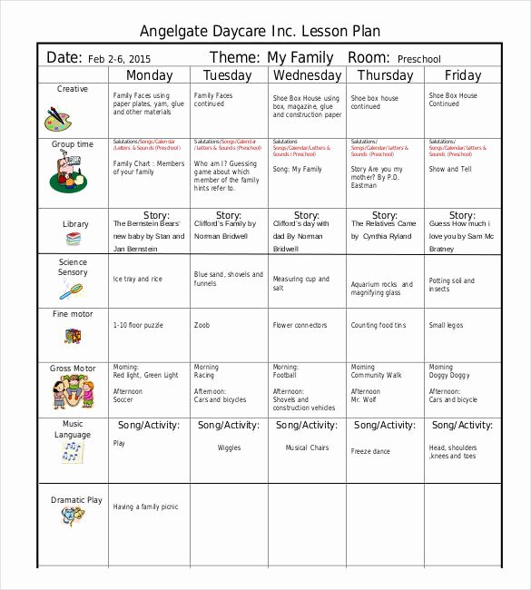 Toddler Lesson Plan Templates Awesome Nursery School Lesson Plans thenurseries