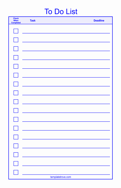 Todo List Template Word Best Of to Do Checklist Template 2