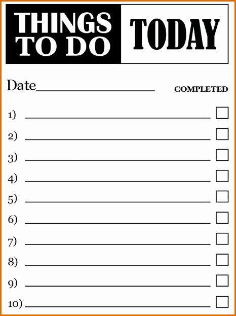 Todo List Template Word New 7 to Do Lists Templates