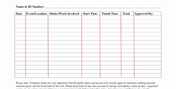 Tracking Volunteer Hours Template Awesome Volunteer Hour Tracking Spreadsheet Spreadsheet Downloa